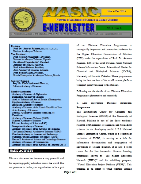 NASIC Newletter Nov-Dec 2015