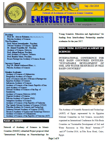 NASIC Newletter Sep-Oct 2016